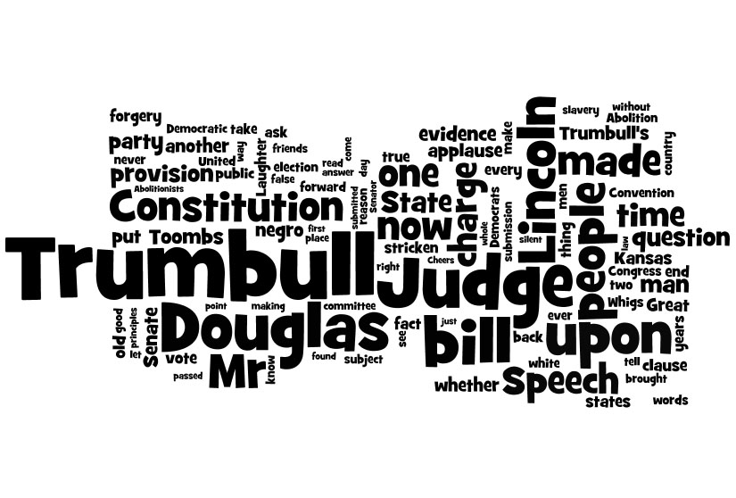 Lincoln Douglas Debates Word Clouds
