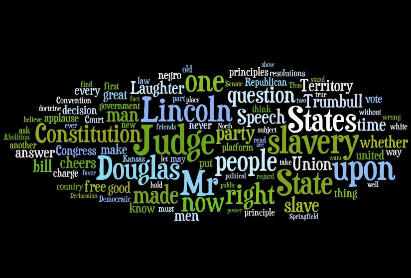 Lincoln Douglas Debates Word Clouds