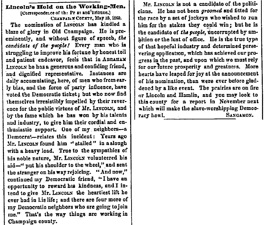 why lincoln won in rdquo journal divided ldquolincoln s hold on the working menrdquo 30 1860