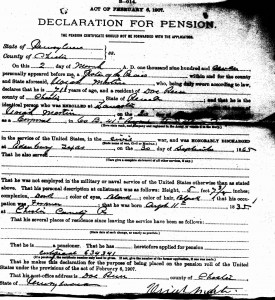 Uriah Martin Military Pension File