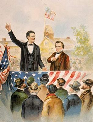 a look into the lincoln douglas debates 1 day ago  us postage, issued in 1958, commemorating the lincoln-douglas debates   so, by 1858 the abolitionists were looking for new leaders.