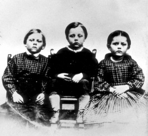 The ambrotype of Humiston's children found with him when he died.
