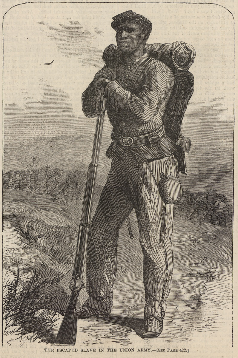 "Illustration – ""The Escaped Slave in the Union Army"""
