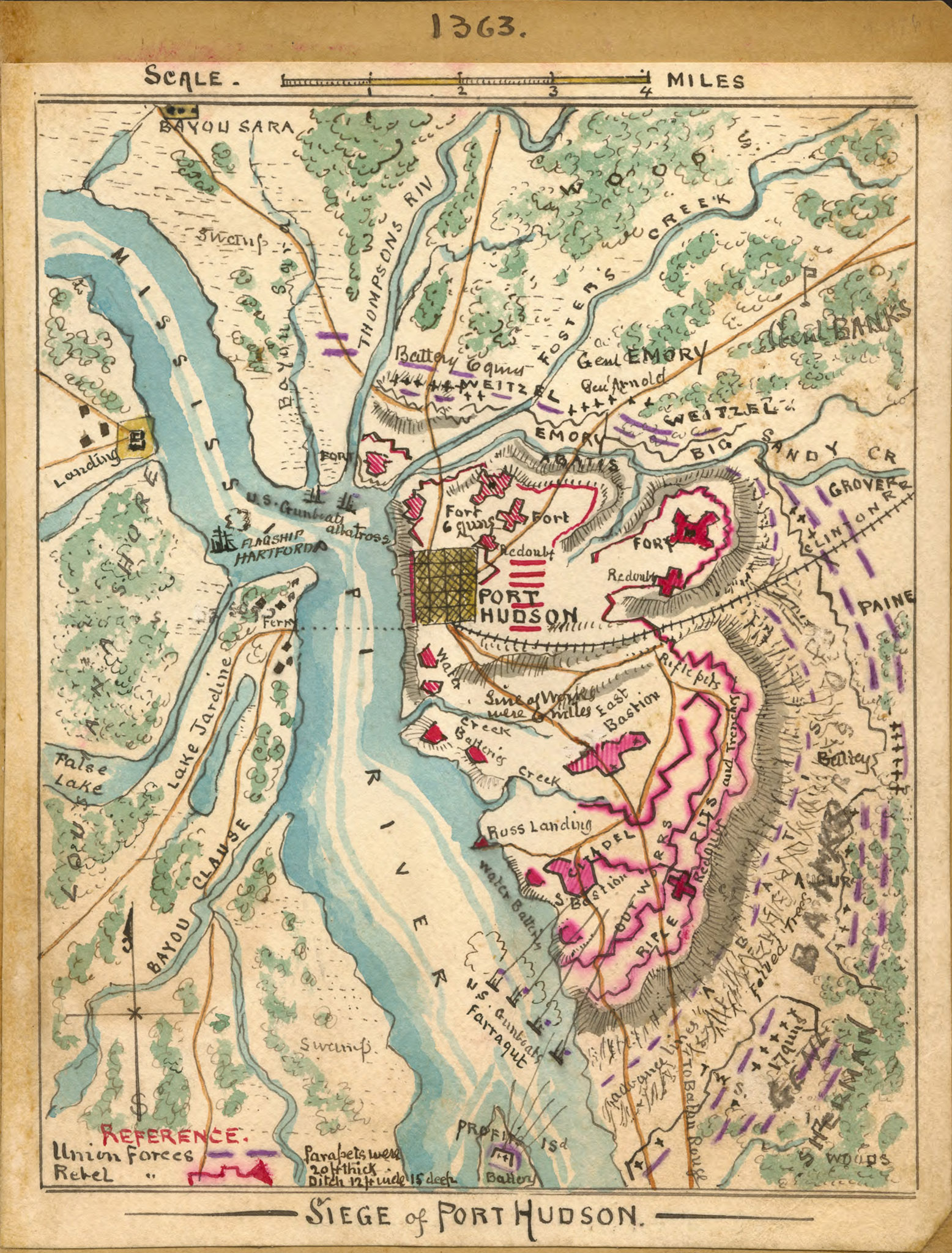 Map - Siege of Port Hudson