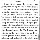 "Ripley (OH) Bee, ""The John Brown Investigation,"" July 5, 1860"