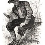 Lincoln as a Rail Splitter Illustration