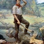 Lincoln the Rail Splitter Artists Impression