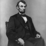 Abraham Lincoln seated Feb