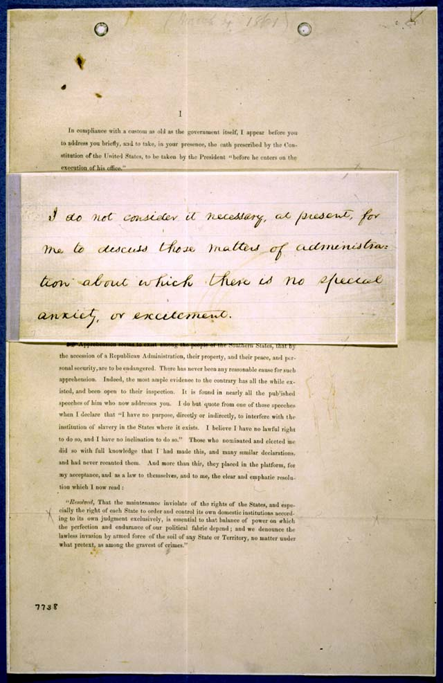 Lincoln's Inaugural Address
