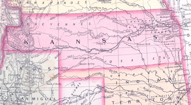 Kansas territory map