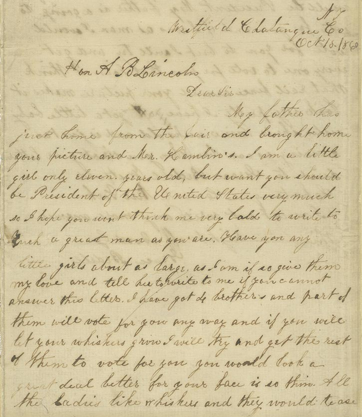 Image of 1860 letter to Lincoln