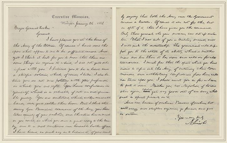 Letter to Joseph Hooker