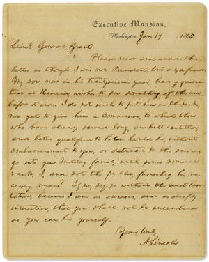Letter to Ulysses S. Grant