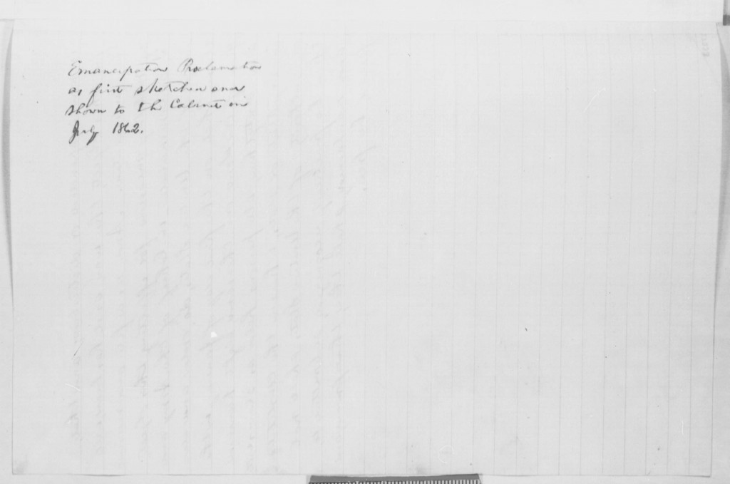 Page image of Lincoln's note