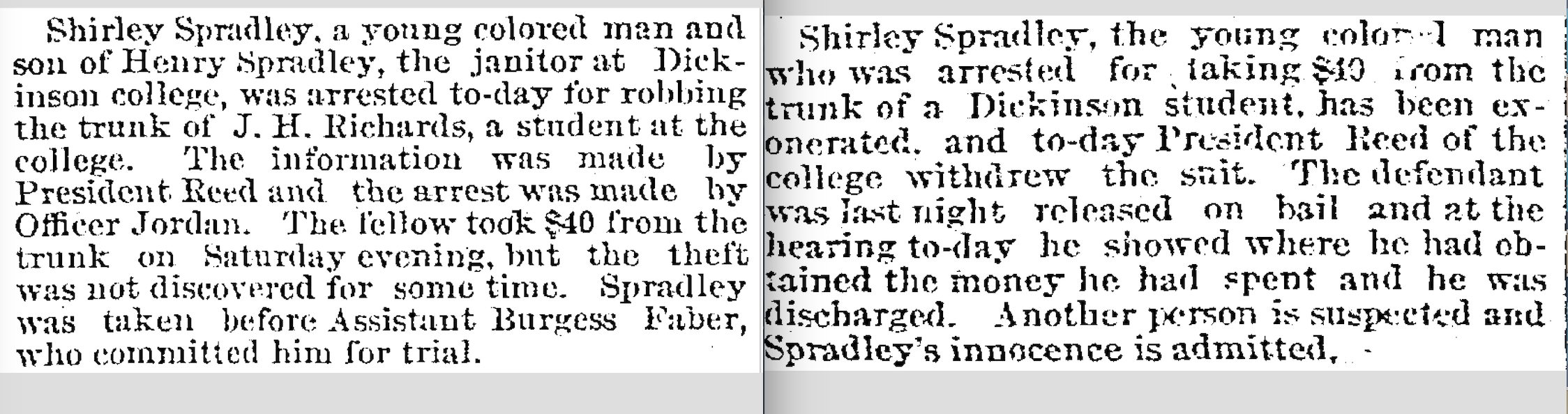 Shirley Spradley's arrest