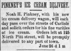 Pinkney's ice cream
