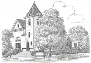 Brimfield Congregational Church Drawing