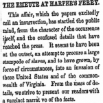 stampede article, Weekly Anglo-African, October 22, 1859