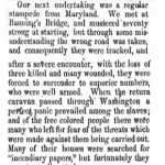 Stampede article, The Elevator, September 22, 1865