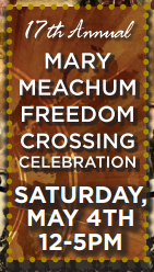 Clipping from a flyer for Mary Meachum Freedom Crossing Celebration.