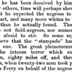 fear of slave stampede