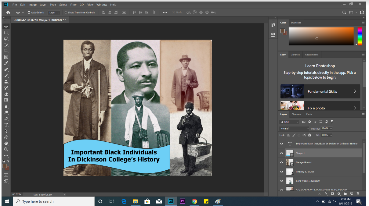 screenshot of Photoshop for collage tutorial