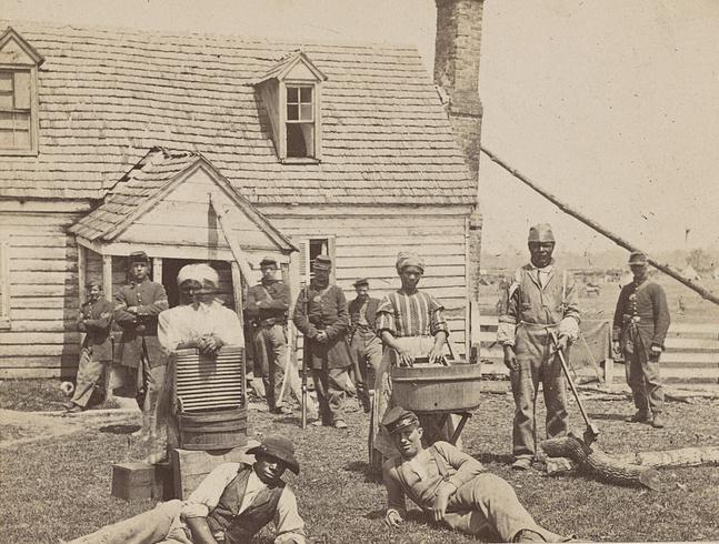 runaway bond people Union soldiers