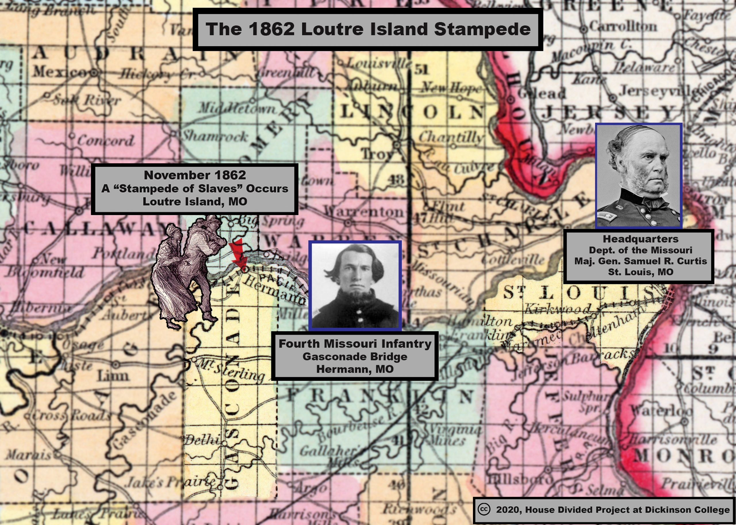 1862 map stampede curtis Loutre Island