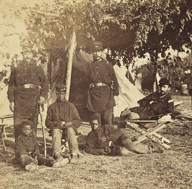 Group of Contrabands at Camp Brightwood, Washington, D.C.