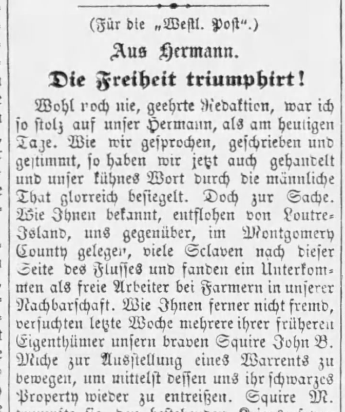 German newspaper image