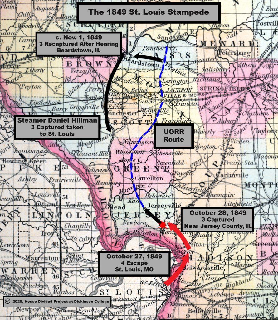 1849 stampede map