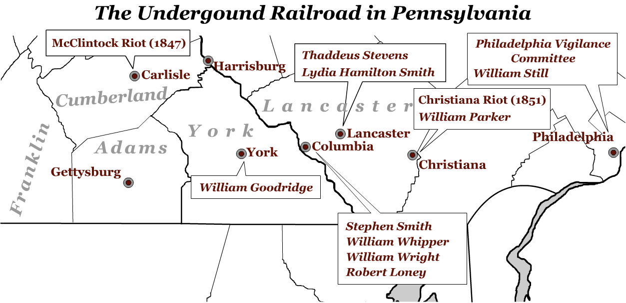 Underground Railroad Digital Clroom: Maps & Images on geography map pennsylvania, word search state of pennsylvania, mason dixon line map pennsylvania, map of mines in pennsylvania, underground railroad in pennsylvania, the word pennsylvania, air medical coverage map pennsylvania, united states map pennsylvania, immigration map pennsylvania, underground railroad museum pennsylvania, battle of gettysburg map pennsylvania, valley forge map pennsylvania, water map pennsylvania,